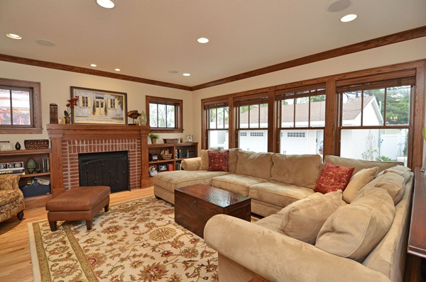 Kuechle Construction Company|Linden Hills Home Renovation|Second Living Room Photo With Windows Overlooking Back Yard
