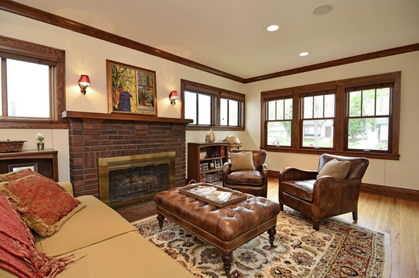 Kuechle Construction Company|Linden Hills Home Renovation|First Living Room Photo Second Angle