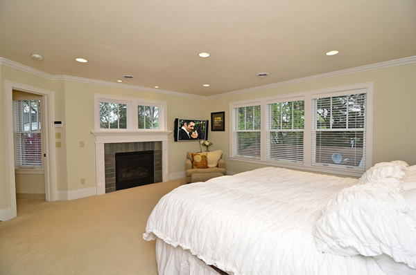 Kuechle Construction Company|Linden Hills Home Renovation|Master Bedroom Fireplace and Bathroom Entry