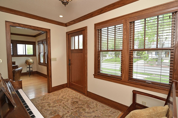Kuechle Construction Company|Linden Hills Home Renovation| Entry Way Photo Looking Out Front Windows