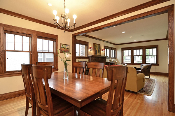 Kuechle Construction Company|Linden Hills Home Renovation|Craftsman Style Dining Room Picture