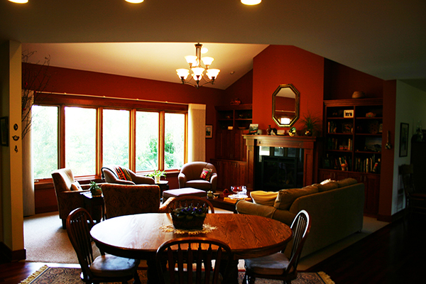 Kuechle Construction Company | New Construction Project Roseville Minnesota | Living Room Photo