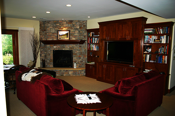 Kuechle Construction Company | New Construction Project Roseville Minnesota | Lower Level Living Room